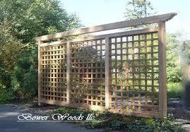Bower Woods Llc Custom Garden Structures Tuscan Trellis Outdoor Pergola Privacy Screen Outdoor Outdoor Privacy