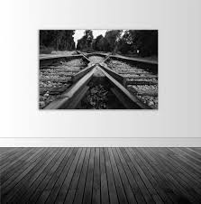 Railroad Tracks Vinyl Wall Decal Railroad Photography Train Track Photo Bw Photography Photography Wall Decal Photo By Abby Smith
