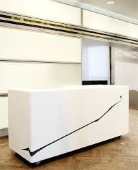 simple white small reception desk