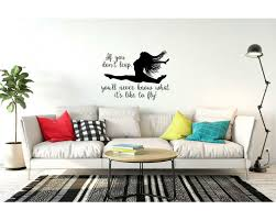 Zoomie Kids Hampson If You Don T Leap You Ll Never Know What It S Like To Fly Personalized Wall Decal Wayfair