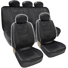 pu leather car seat covers 9pc set w