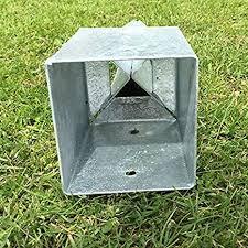 50mm Galvanised Fence Post Spikes 2 Pack By Fencepostspikesuk Amazon Co Uk Diy Tools