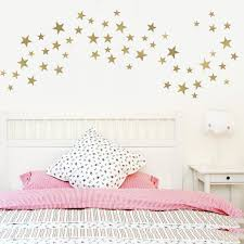 Star Wall Decals Silver Decals Or Gold Star Decals Metallic Etsy