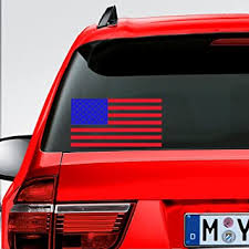 Amazon Com 1pair 2pcs American Us Flag Waterproof Vinyl Decals Indoor Home Car Truck Laptop Boat Rear Window Army Navy Military Country Decal Bumper Stickers 7 Width Automotive