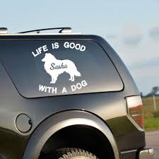 Life Is Good With A Dog Decal With Pet S Name Rescue Dog Dog Vinyl D Bloomandanchor