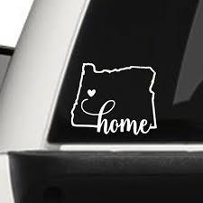 2 X Oregon Home Love Vinyl Decal Sticker 4 5 X 5 5 Etsy