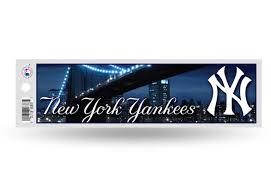 Ny New York Yankees Bumper Sticker Officially Licensed Mlb Custom Sticker Shop
