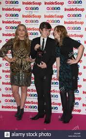 London, UK. 21 October 2013. Waterloo Road actors Abby Mavers and ...