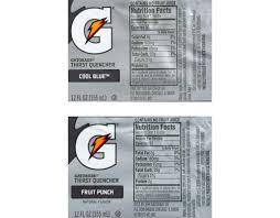 gatorade nutrition facts nutritionwalls