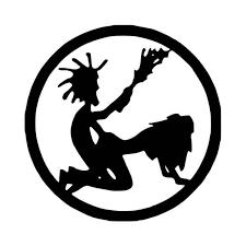 Hatchet Man Fking Hatchet Girl Circle Vinyl Decal Sticker