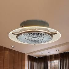 round bladeless ceiling fan light