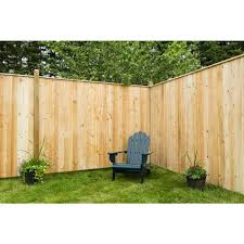 Unbranded 6 Ft H X 8 Ft W Privacy Eastern White Cedar Moulded 4 In Flat Top Picket Fence Panel 63732342 The Home Depot