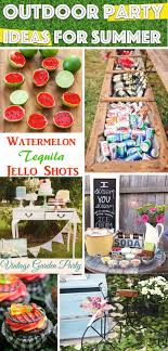 25 outdoor party ideas for summer you
