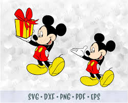 SVG PNG Mickey Mouse Hands Shorts Body Layered Cut Files