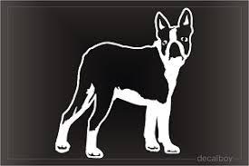 Boston Terrier Decals Stickers Decalboy