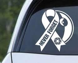 Star Wars Death Star Never Forget Die Cut Vinyl Decal Sticker Decals City