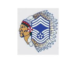 Air Force Chief Master Sergeant Chief Decal 3 5 Wide X 3 25 High Midtown Military