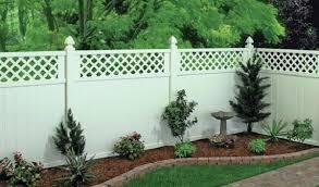 White Lattice Top Privacy Vinyl Fence Panel