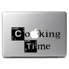 Breaking Bad Cooking Time Apple Macbook Air Pro 13 15 17 Vinyl Decal Sticker Dreamy Jumpers