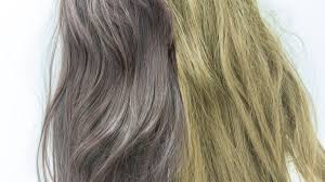 yellow streaks in grey hair and how to
