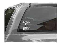 Rn Decal Bumper Sticker Registered Nurse Car Decal Rn Caduceus Logo 4 99 Picclick