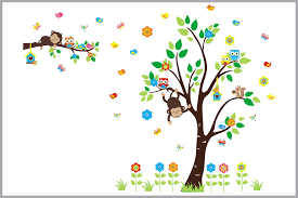Forest Nursery Decals Baby Room Decorations Woodland Themed Decor Nurserydecals4you