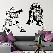 Wall Decal Star Wars Storm Trooper R2d2 From Amazon Star Wars