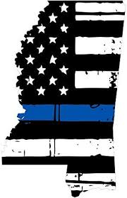 Amazon Com Mississippi Tattered Thin Blue Line Us Flag Honoring Our Men Women Of Law Enforcement Car Symbol Sticker Decal Die Cut Vinyl Window Computer Made And Shipped In Usa Automotive