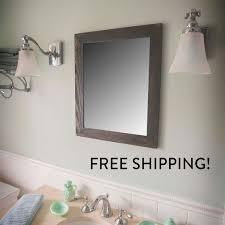 30x36 vanity mirror reclaimed wood