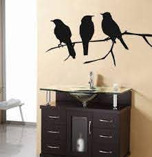 Crows Wall Art Wall Decal Crows Bird Vinyl Wall Art Decal By Planetwallart 25 00 Vinyl Wall Art Decals Crow Bird Decal Wall Art