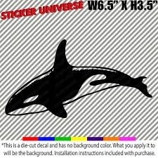 Whale Orca Car Window Decal Bumper Sticker 6 5x3 5 Etsy