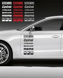 12pcs Racing Sponsors Logo Sport Graphic Emblem Decal For Any Car Bmw Subaru N Car Sticker Design Bmw Mitsubishi Evo