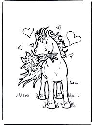 Paard Met Bloemen Kleurplaten Paarden