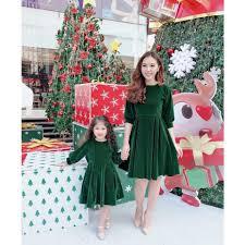 XẢ NHANH VỀ ĂN TẾT] Váy Nhung Cho Mẹ Váy Thu Đông Cho Nữ Đầm Dài ...