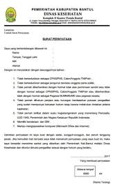 Contoh Surat Pernyataan Kusnantokarasan Com