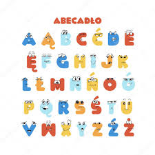 French Colorful Latin Alphabet For Kids With Hand Drawn Cartoon Characters Education Material For Kindergarten Preschool School Poster Banner Kids Room Decoration Premium Vector In Adobe Illustrator Ai Ai Format Encapsulated