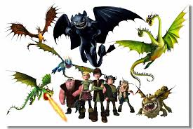 Custom Canvas Wall Decals Train Your Dragon Poster Night Fury Toothless Wallpaper Httyd Cartoon Movie Stickers Kids Gifts 0859 Wall Stickers Aliexpress
