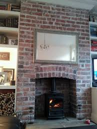 my red brick fireplace transformed