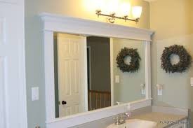 frames for existing bathroom mirrors