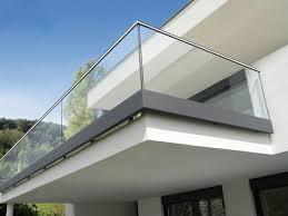 modern balkon haus balkon geländer