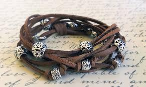 boho leather wrap bracelet kit cocoa