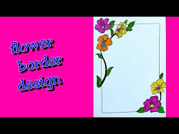 how to make easy page border page