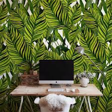 Big Jungle Leaves Removable Wallpaper Self Adhesive Wall Wall Mural Peel Stick Ebay