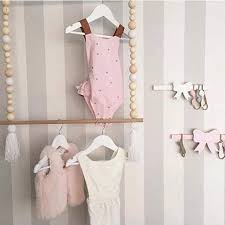 Fashion Nordic Style Tassel Wooden Beads Clothes Rack Kids Room Decor Nicerin Best Goods Free Shipping