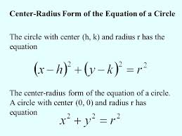 general form of a circle example