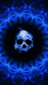 640x1136 skull dark blue gothic fantasy