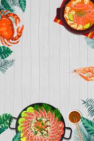 ملصق ترويج المأكولات البحرية الإبداعية للمساعدة الذاتية يبعد