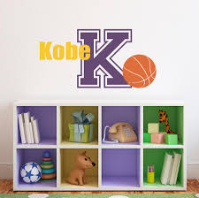 Basketball Wall Decal With Initial Name Sports Wall Decal Boy Be Stephen Edward Graphics