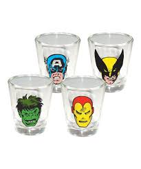 icup inc retro comic faces shot glass