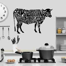 Cow Anatomy Cuts Of Beef Kitchen Wall Sticker Decal World Of Wall Stickers